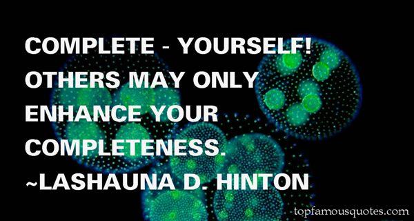 Lashauna D. Hinton Quotes