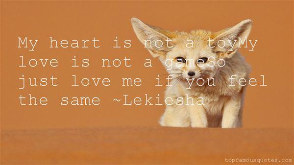 Lekiesha Quotes