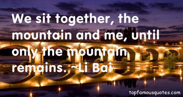 Li Bai Quotes