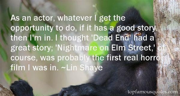 Lin Shaye Quotes