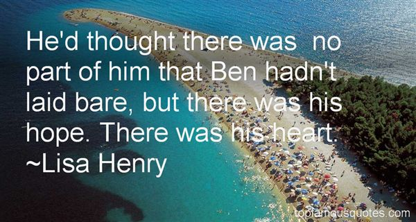 Lisa Henry Quotes