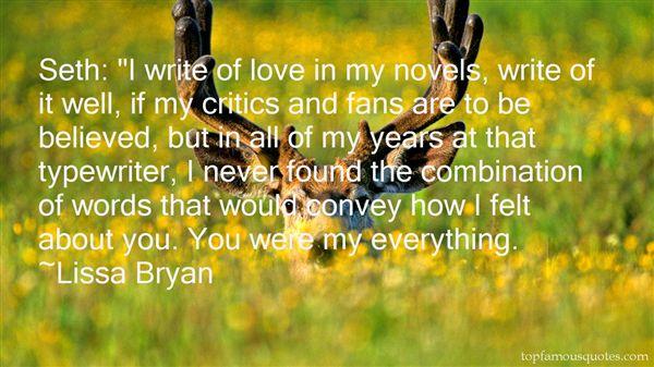 Lissa Bryan Quotes