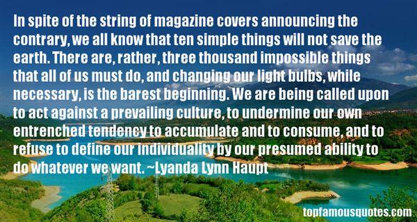 Lyanda Lynn Haupt Quotes