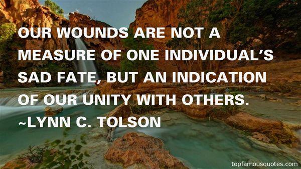 Lynn C. Tolson Quotes
