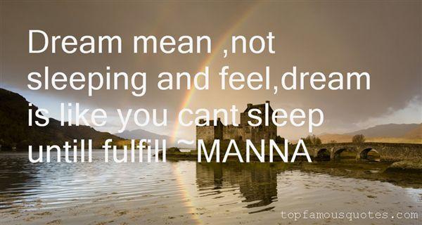 MANNA Quotes