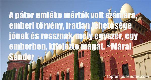Márai Sándor Quotes