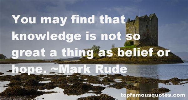 Mark Rude Quotes
