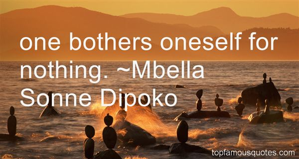 Mbella Sonne Dipoko Quotes