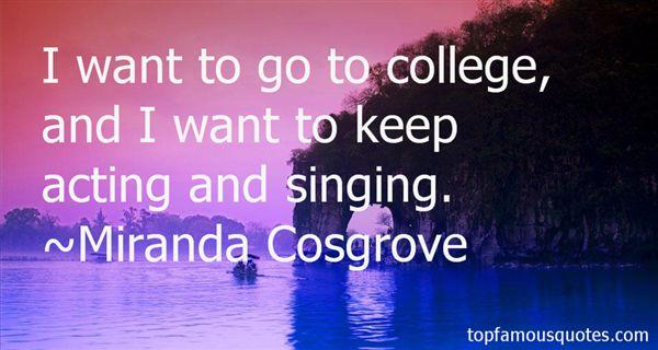 Miranda Cosgrove Quotes