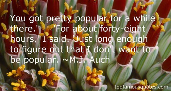 M.J. Auch Quotes