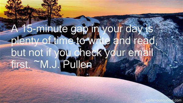 M.J. Pullen Quotes