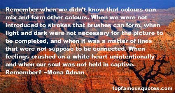 Mona Adnan Quotes