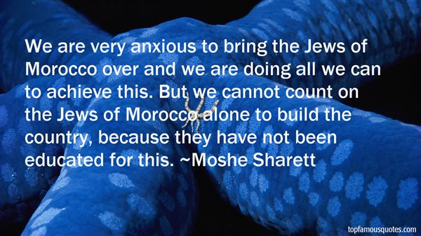 Moshe Sharett Quotes