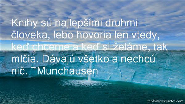 Munchausen Quotes