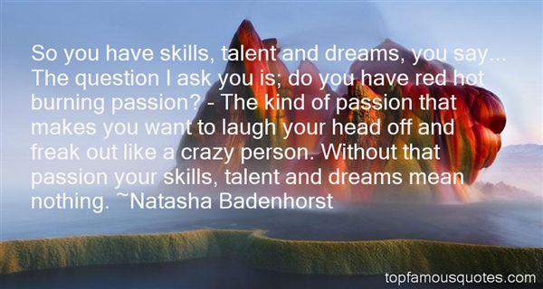 Natasha Badenhorst Quotes