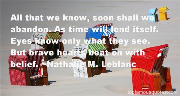 Nathalie M. Leblanc Quotes