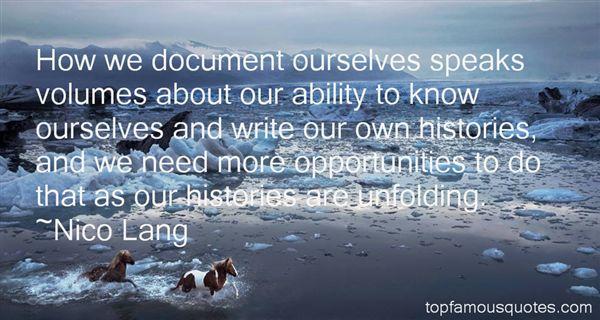Nico Lang Quotes