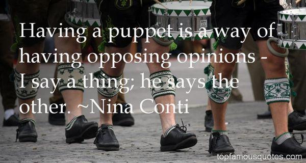 Nina Conti Quotes