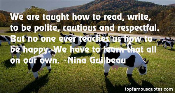 Nina Guilbeau Quotes