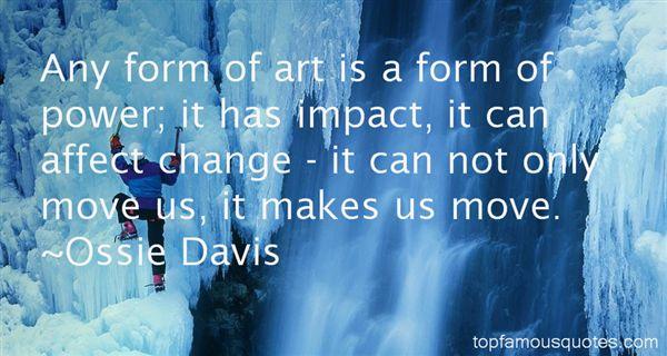 Ossie Davis Quotes