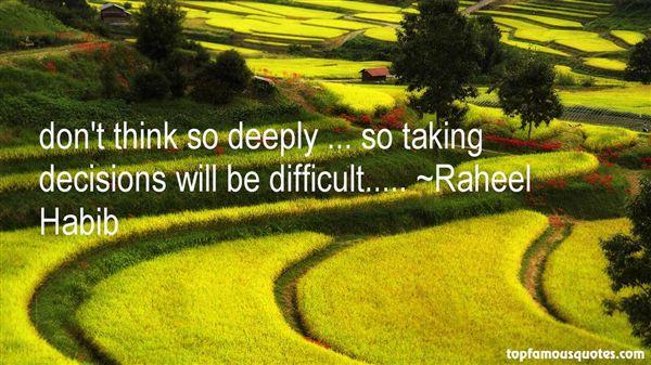Raheel Habib Quotes