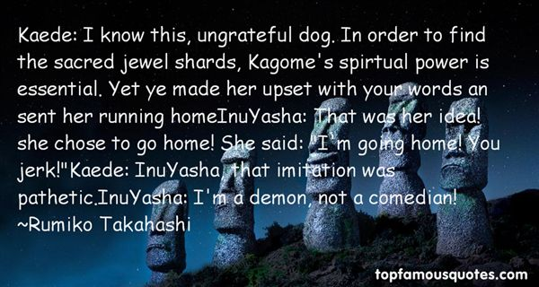 Rumiko Takahashi Quotes