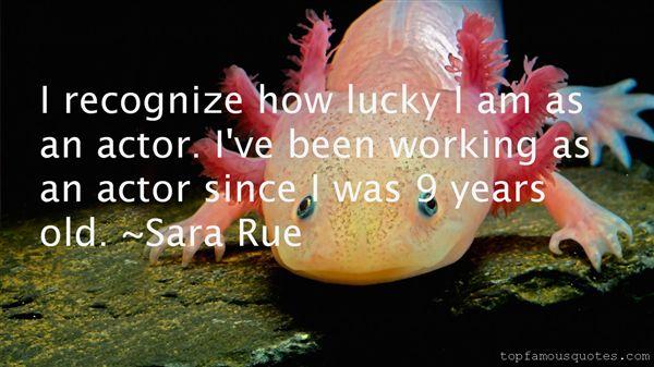 Sara Rue Quotes