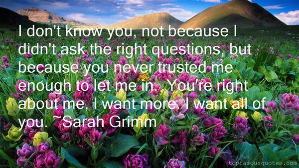 Sarah Grimm Quotes