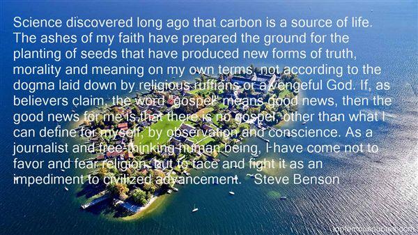 Steve Benson Quotes