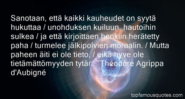 Théodore Agrippa D'Aubigné Quotes