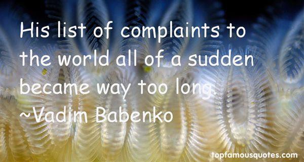 Vadim Babenko Quotes