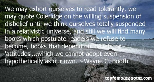 Wayne C. Booth Quotes