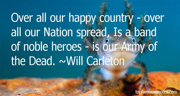 Will Carleton Quotes