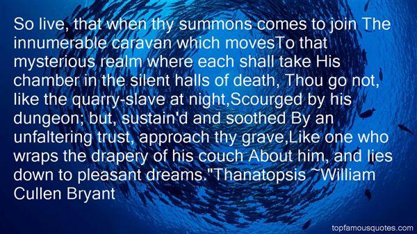 William Cullen Bryant quotes nature