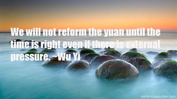 Wu Yi Quotes