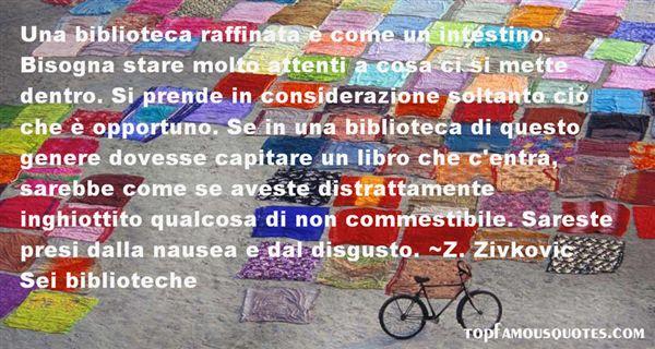 Z. Zivkovic Sei Biblioteche Quotes
