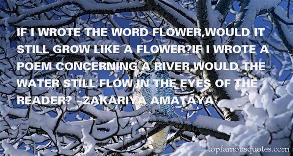 Zakariya Amataya Quotes