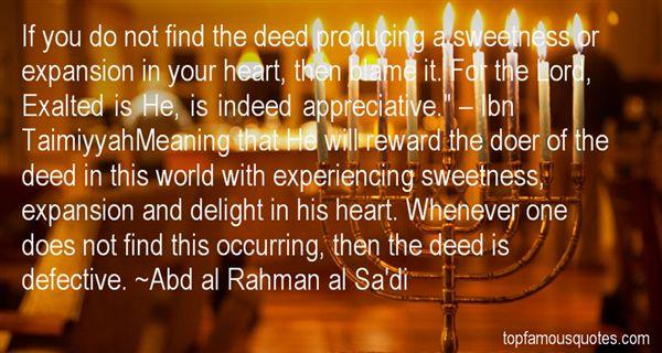 Abd Al Rahman Al Sa'di Quotes