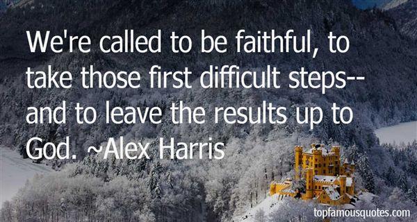 Alex Harris Quotes