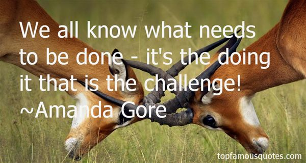 Amanda Gore Quotes