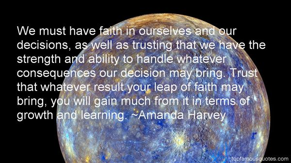 Amanda Harvey Quotes