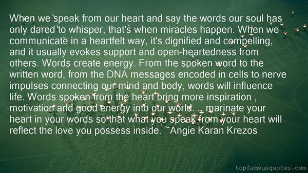 Angie Karan Krezos Quotes