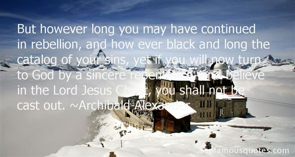 Archibald Alexander Quotes