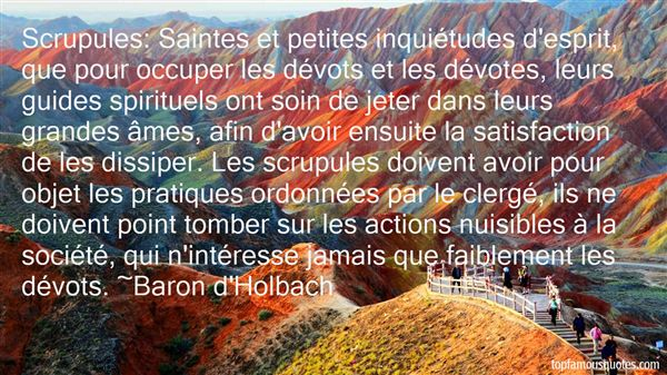 Baron D'Holbach Quotes