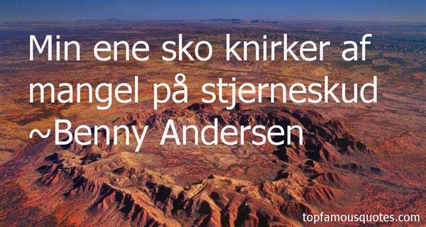 Benny Andersen Quotes