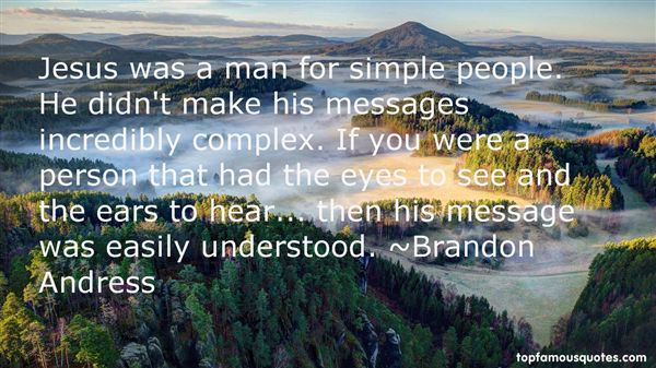 Brandon Andress Quotes