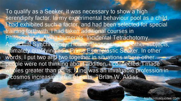 Brian W. Aldiss Quotes
