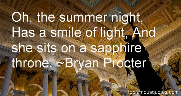 Bryan Procter Quotes