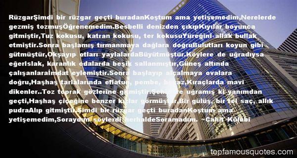 Cahit Külebi Quotes