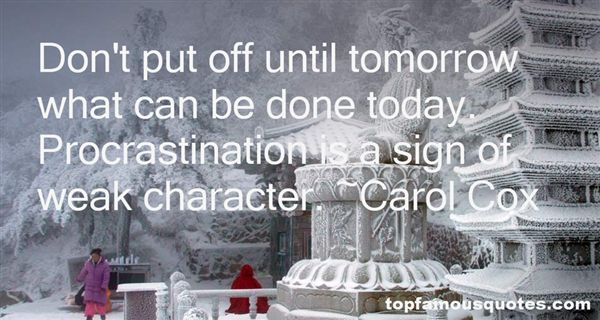 Carol Cox Quotes